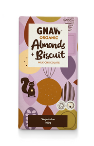 Bilde av Gnaw organic milk chocolate with almonds &